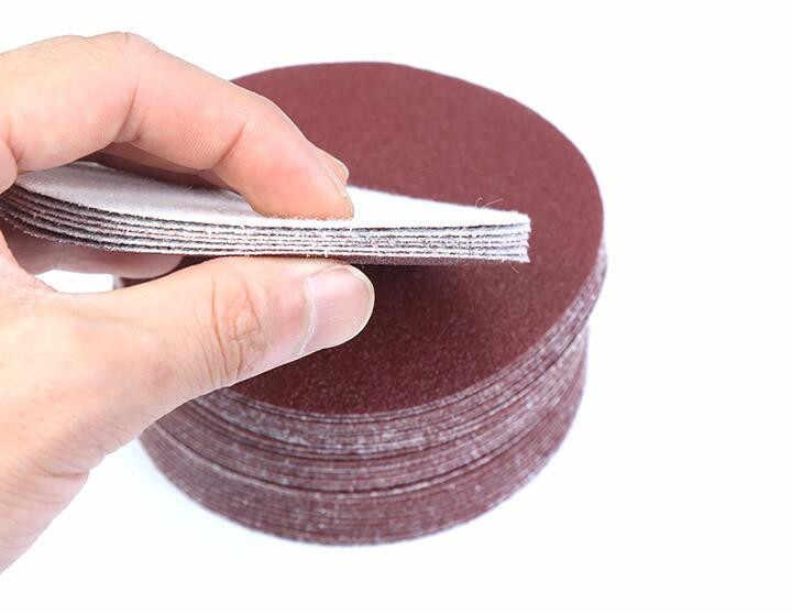 30 ชิ้น/เซ็ตขัดกระดาษ 100 มม.กรวดแผ่นขัดกระดาษทรายกระดาษทรายอุปกรณ์เสริมสำหรับเครื่องมือขัด наждачная нож