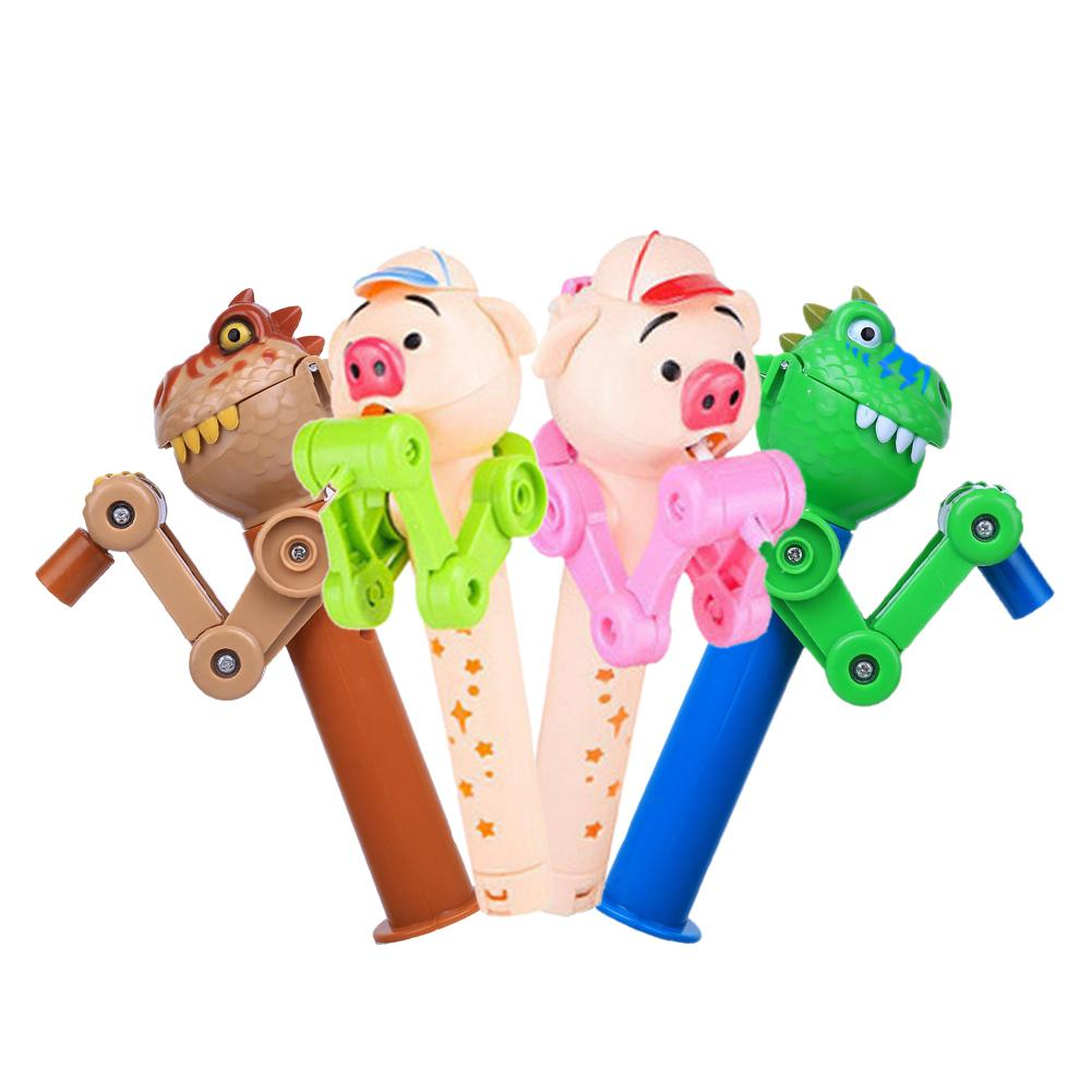 Creative Personality Toys Lollipop Holder Decompression Toys Lollipop Robot Decompression Candy Dustproof Toy Gift