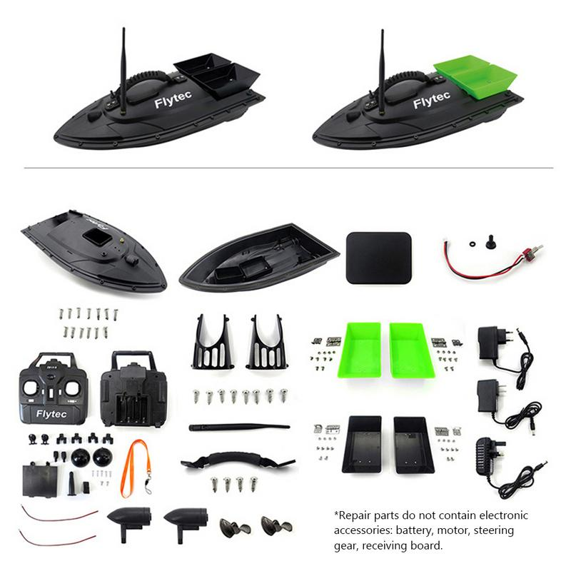 Image 3 - Fishing Equipment Accessory Tool 500 M Intelligent RC Bait Boat Toy Double Warehouse Bait Fishing Package Repair Upgrade Kits-in RC Boats from Toys & Hobbies