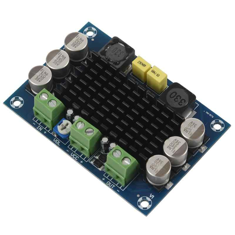 1 pcs blue backplane ABS + metal monaural 100W digital amplifier board TPA3116D2 digital audio amplifier board 12-26V 7.9*5.4*