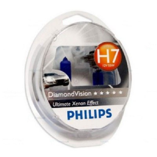 Lamp Philips DIAMOND VISION 5000 K V H7, 55 W, P * 26D, 2 PCs (12972DVS2) 2 pcs colorful glass crystal cabinet handle pull drawer furniture door knobs cupboard wardrobe diamond knob with screw