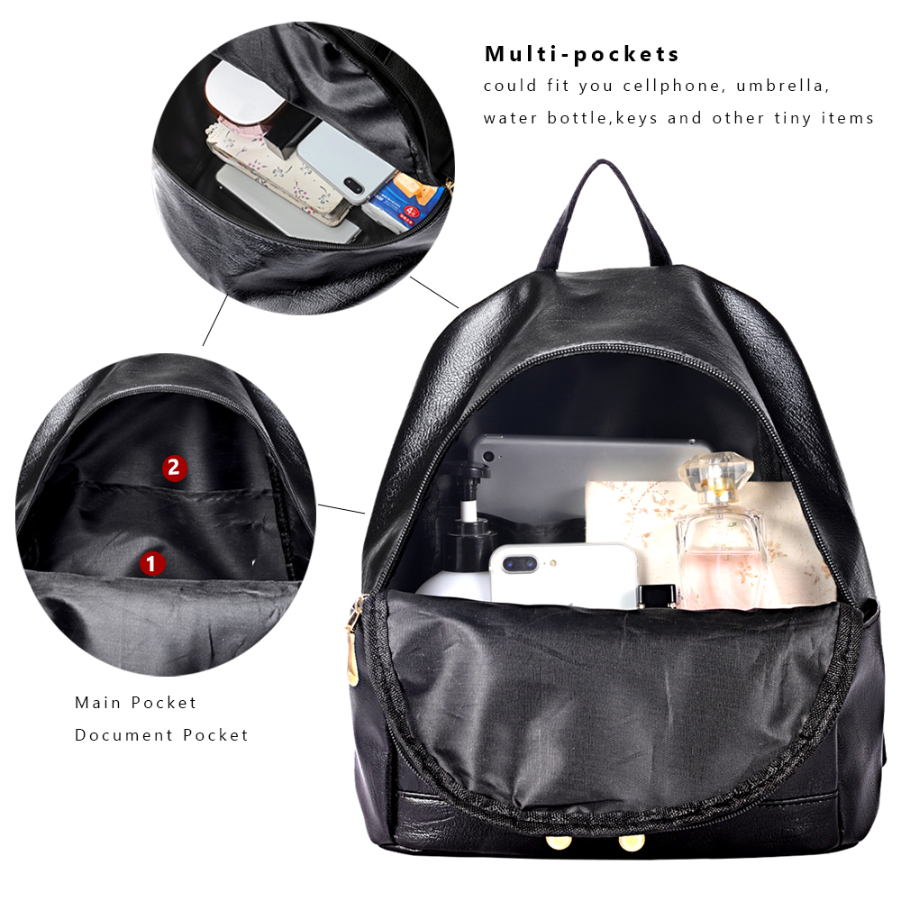 Women Backpack Bag Casual School Backpack Small BackPacks For Teenager Girl Children Mini Backpack Female Women Bags PU Leather