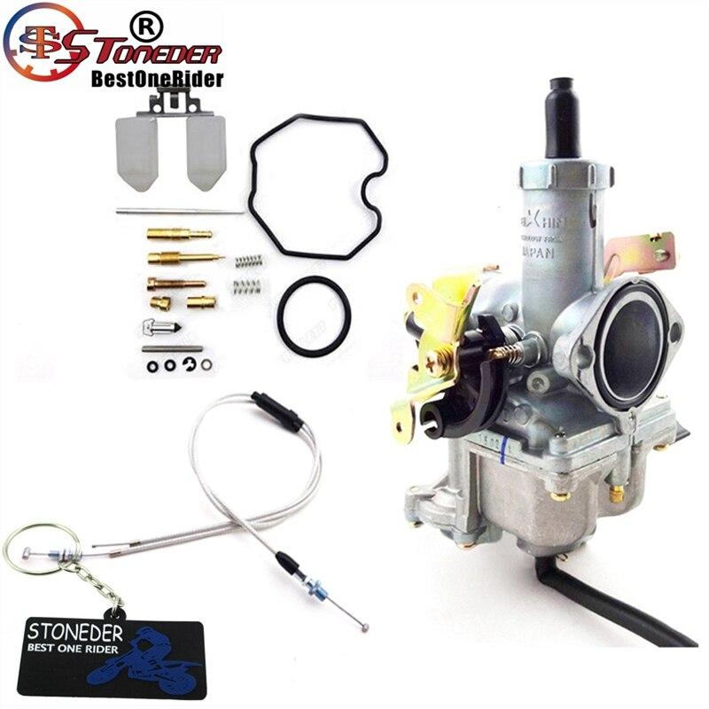 STONEDER Keihin 30mm PZ30 Accelerating Pump Carburetor Gas Throttle Cable Repair Kits For 200cc 250cc Pit