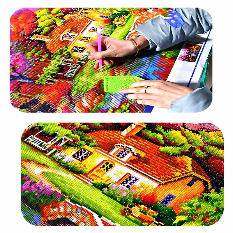 FineTime 5D DIY12 constellation full round diamond embroidery Diy diamond painting rhinestone cross stitch mosaic in Diamond Painting Cross Stitch from Home Garden