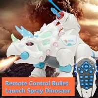 Dinosaur Toys for Kids White Spray Electric Dinosaur Mechanical Pterosaurs Dinosaur Water Spray Bullet Launch RC Animals Robots