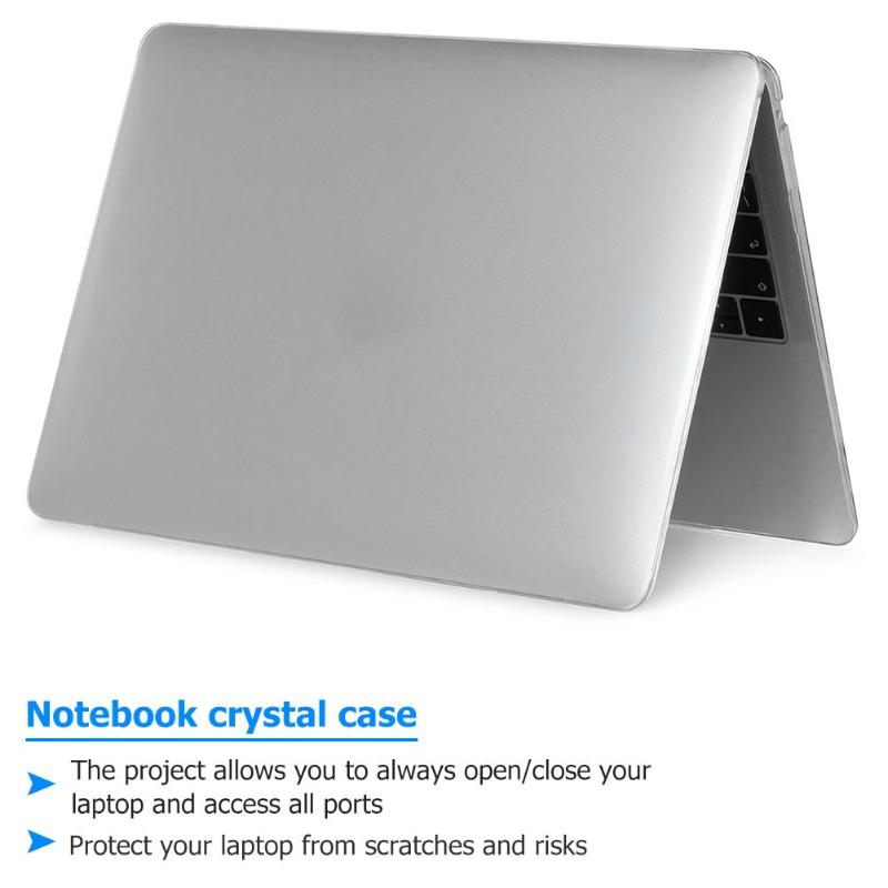 Crystal Hard Case For Apple Mac book Pro Retina 13 15 For Macbook Air 13.3 Case Notebook Cover 11 12 inch Laptop Sleeve Touchbar