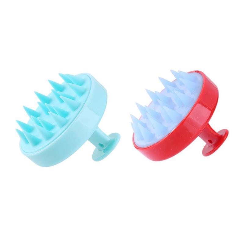 Scalp Massage Brushes Silicone Teeth Anti-hair Loss Hair Comb Bath Brush