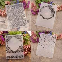Прозрачные штампы пластиковые папки для тиснения шаблон для бумажных открыток Скрапбукинг Ремесло изготовление открыток DIY Фотоальбом свадебный Декор