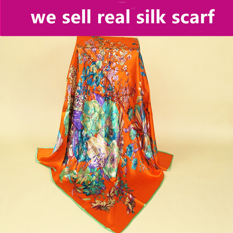 Back To Search Resultsapparel Accessories 88cm Satin Women #s72 100% Real Pure Soft Silk Scarf Charmeuse Silk Size:88