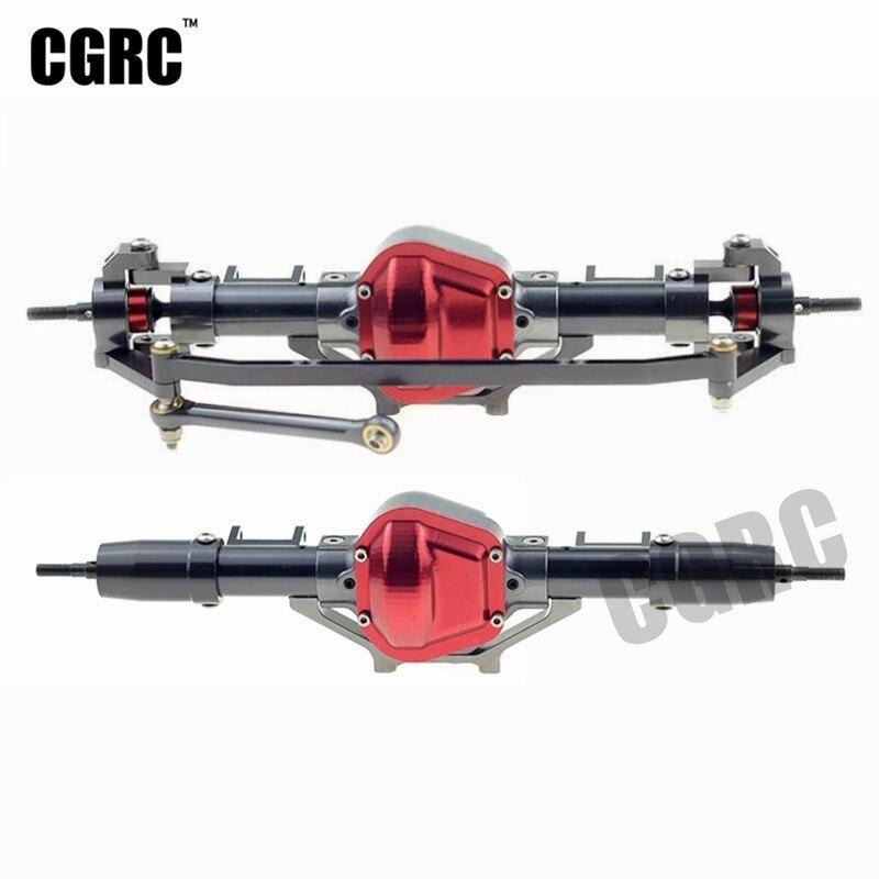 Metal de la aleación de la alta calidad frontal y trasera eje para 1/10 RC Crawler coche Jeep Cherokee Axial Scx10