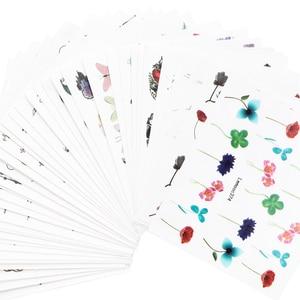 Image 5 - LEMOOC נייל העברת מדבקות צבעוני פרחי פרפר מים מדבקות DIY טיפים מעורב דפוסי נייל אמנות מדבקת קישוט