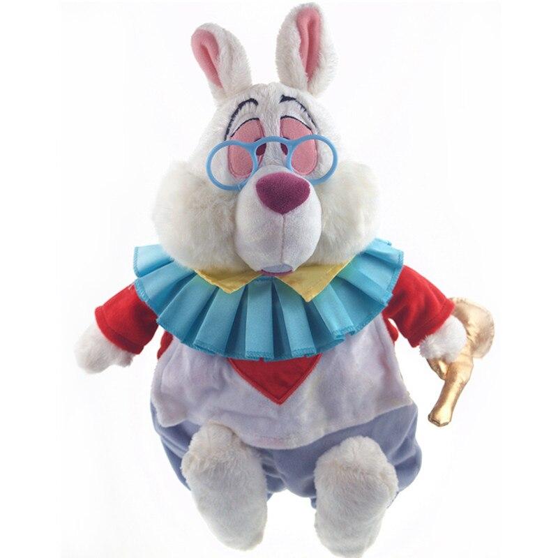 38cm Original Alice In Wonderland White Rabbit Cartoon Cute Stuffed Plush Toy Doll Children Birthday Christmas Gift toy story bunny toys