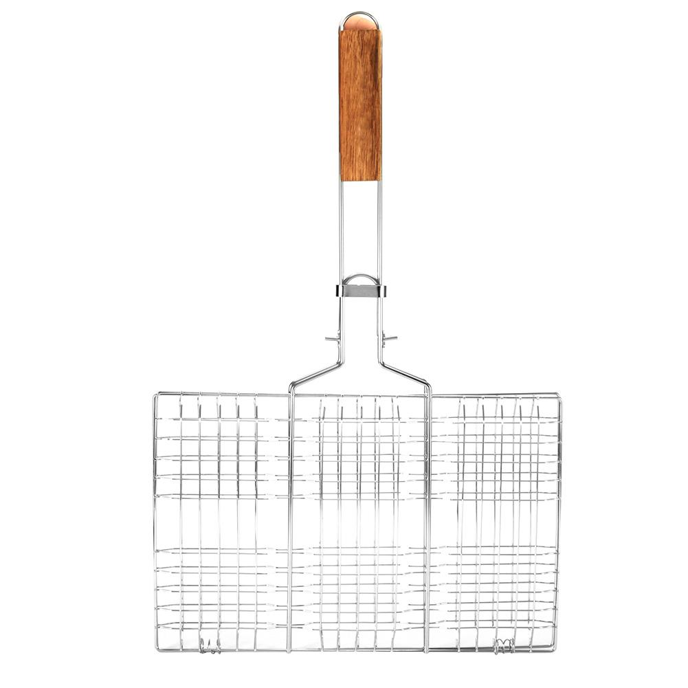 50% OFF BBQ Wire Mesh Grill Net Barbecue Grilled Fish Clip