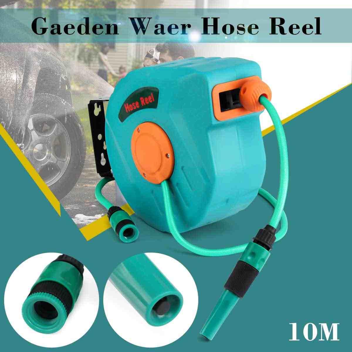 10 M אחורה אוטומטי גן מים סליל צינור נשלף סליל צינור אחסון תרסיס כלי אוניברסלי רכב מכונת כביסה גמיש גן אוויר צינור