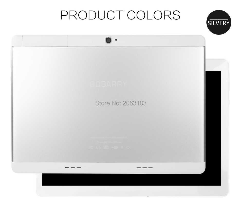 Tableta BOBARRY de 10 pulgadas Ocat Core 6GB RAM 128GB ROM Android 9,0 GPS tarjetas SIM duales 1920 * 1200IPS 3G 4G LTE tableta de teléfono 10 10,1