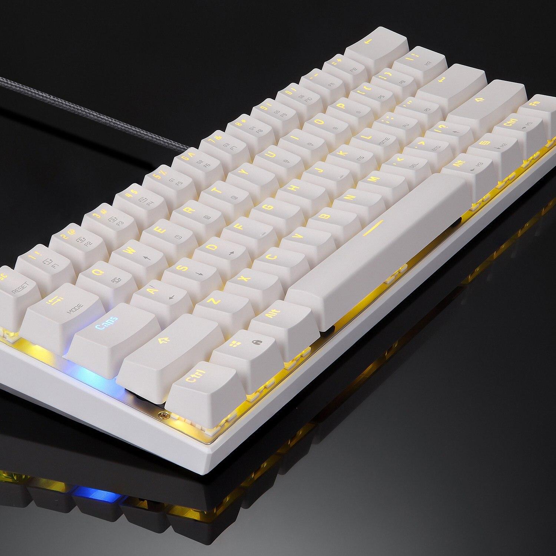 MOTOSPEED Ck62 clavier mécanique Bluetooth sans fil double Mode avec rétro-éclairage rvb clavier 61 touches clavier de jeu pour Lol Pu