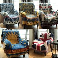 Verdicken Reine Baumwolle Faden Gestrickt Decke Mit Quaste Casual Ethnische Tribal Bohemian Decke Sofa Abdeckung Bett Decken Home Decor|Decken|   -