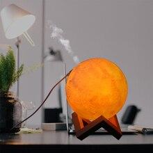 880ml 3D Printing Moon Lamp Air Humidifier Purifier Night Light Mist Maker Aroma Essential Oil USB home Ultrasonic Humidifier