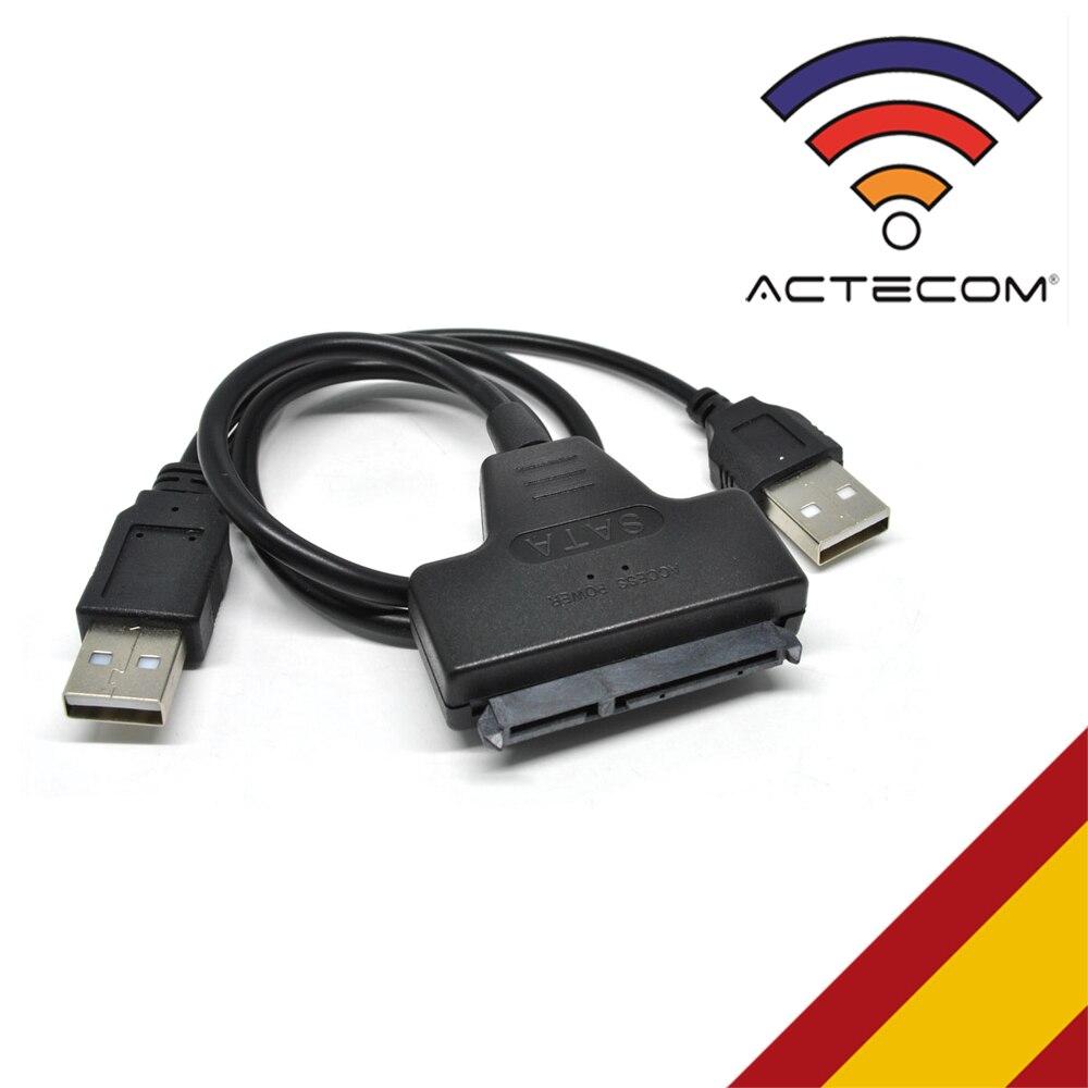 ACTECOM CABLE ADAPTADOR SATA A USB 2.0 HD DVD LECTOR CONECTOR