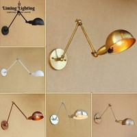 Adjustable Swing Long Arm Wall Light Vintage Home Lighting Loft Industrial Wall Lamp E27 Wall Sconce Lampen Appliqued Murales