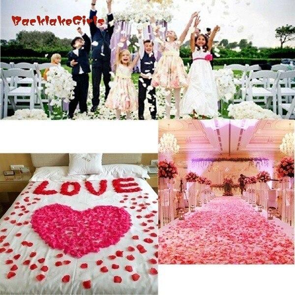1000 Pcs Multicolor Silk Rose Petals Wedding Party Decoration Flowers (1000pcs/pack)