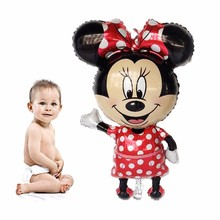 1PC 112CM Large Minnie And Mickey Mouse Foil Balloons Birthday Party Decoration Kids Babyshower Gender Reveal Ballonskids Toy