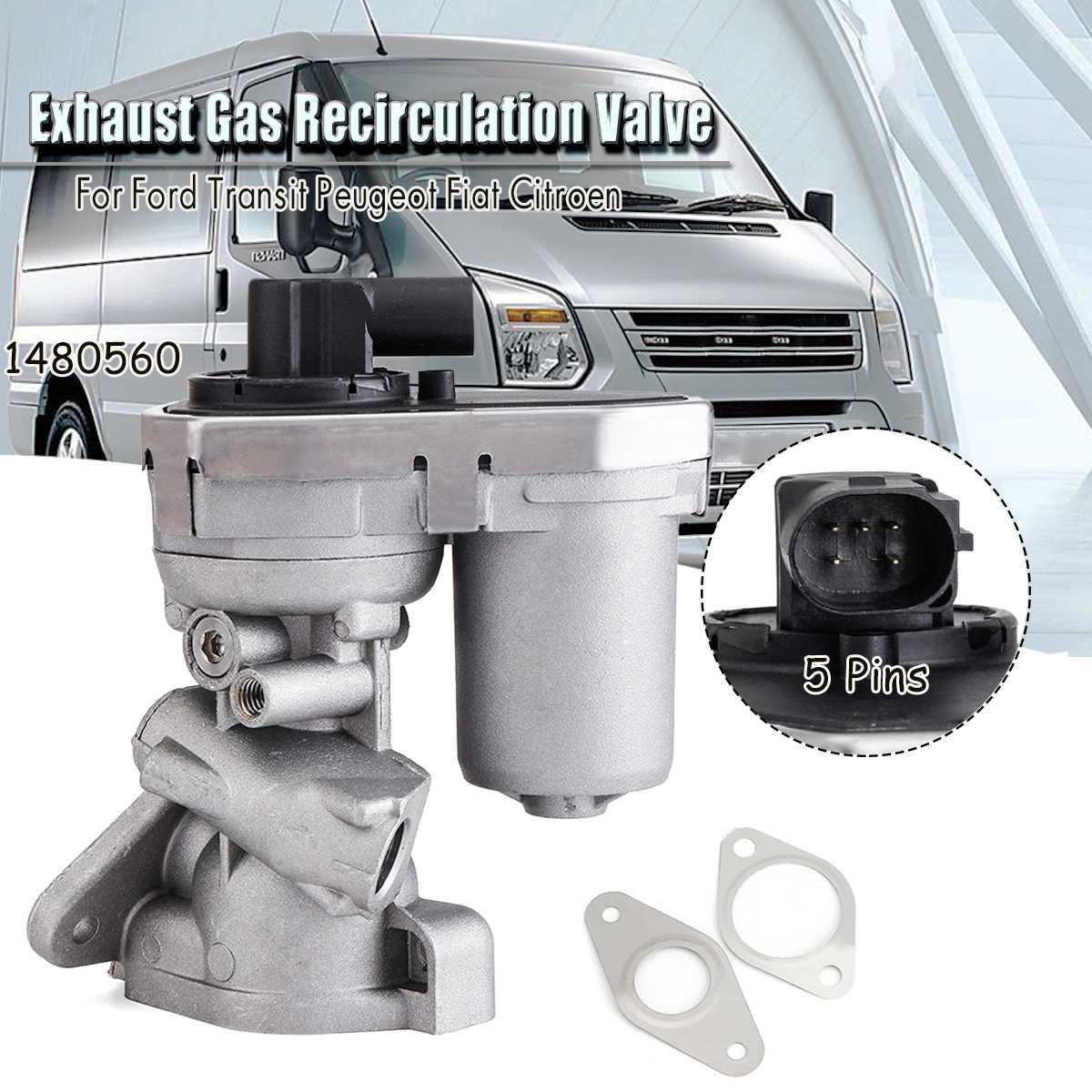1480560 250 2 2 2 4 TDCI EGR Valve Non Water Cooled Relay For Ford Transit