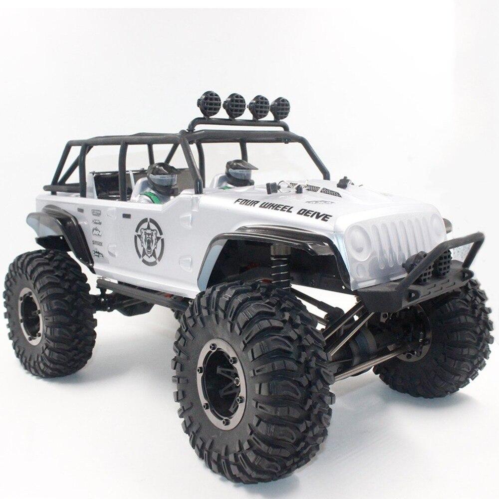 Voiture télécommandée 1/10 2.4 GHz brossé voiture RC tout-terrain roche chenille RTR véhicule automatique jouets voiture pour enfants cadeau
