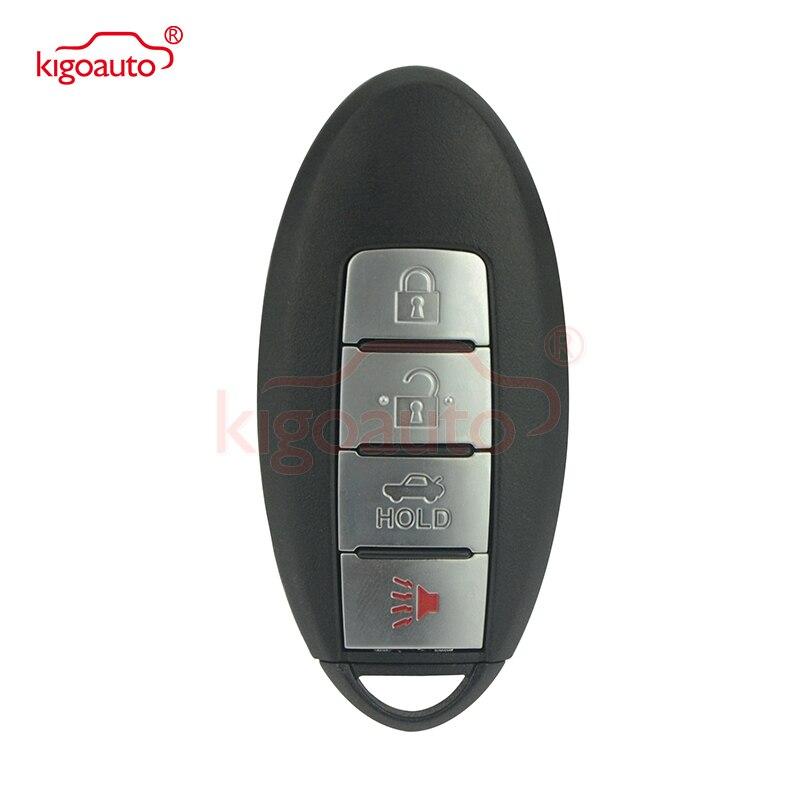 Kigoauto 4 bouton Smart voiture télécommande clé 433.92Mhz pour Nissan Altima Maxima Murano 2017 2016 4A puce KR5S180144014