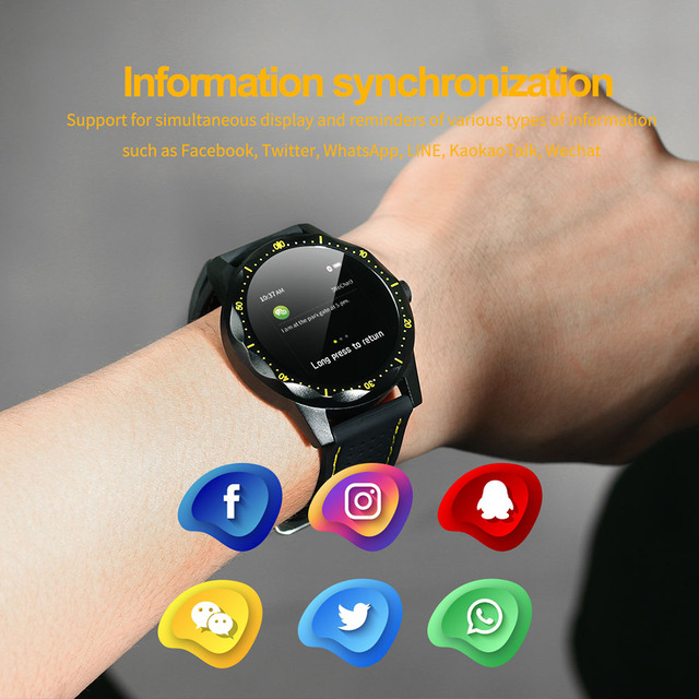 COLMI SKY1 Sports Smartwatch Heart Rate IP68 Waterproof Step Tracker Remote Music Fitness Tracker Watch Men For IOS & Android