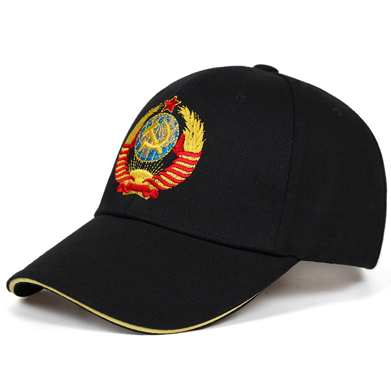 New CCCP National Emblem Embroidered Baseball Cap Cotton Caps Adjustable Reentrant Sun Hat Outdoor Visor Hats