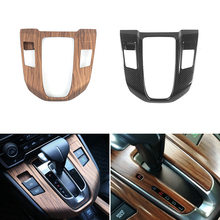 Car Styling Wood Grain Center Console Shift Gear Panel Frame Protective Cover Trim For Honda CR-V CRV 2017 2018