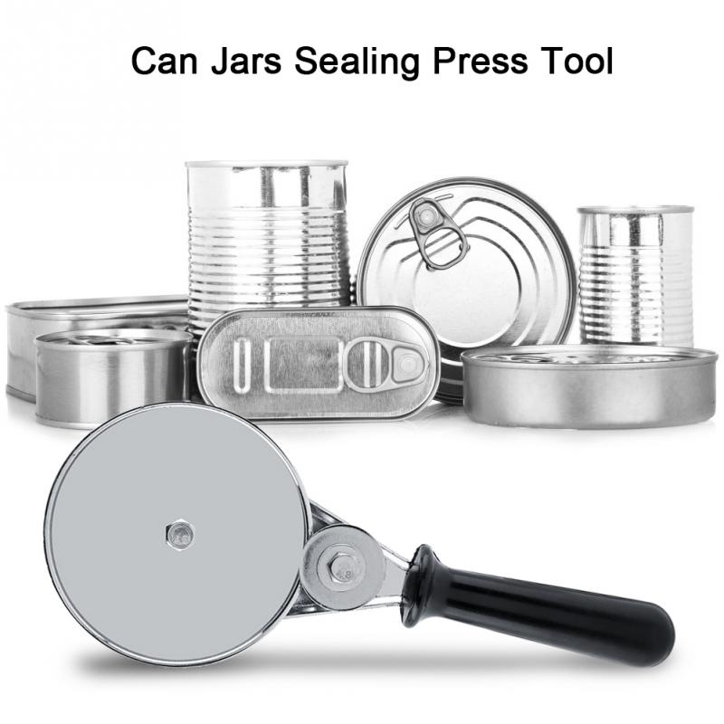Manual Can Round Sealer Stainless Steel for Home Kitchen Glass Jars Press Sealing Hand Tool