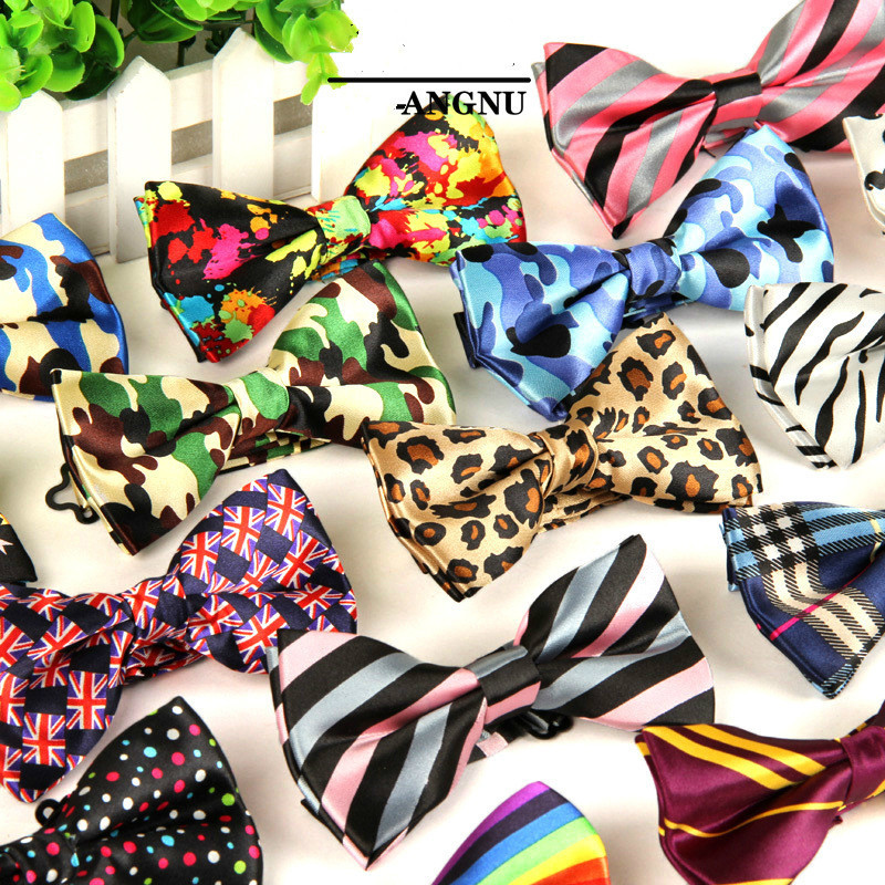 Men's Adjustable Formal 100% Cotton Vintage Animal Print Bow Tie Butterfly Bowtie Tuxedo Bows Groom Prom Party Accessories Gift
