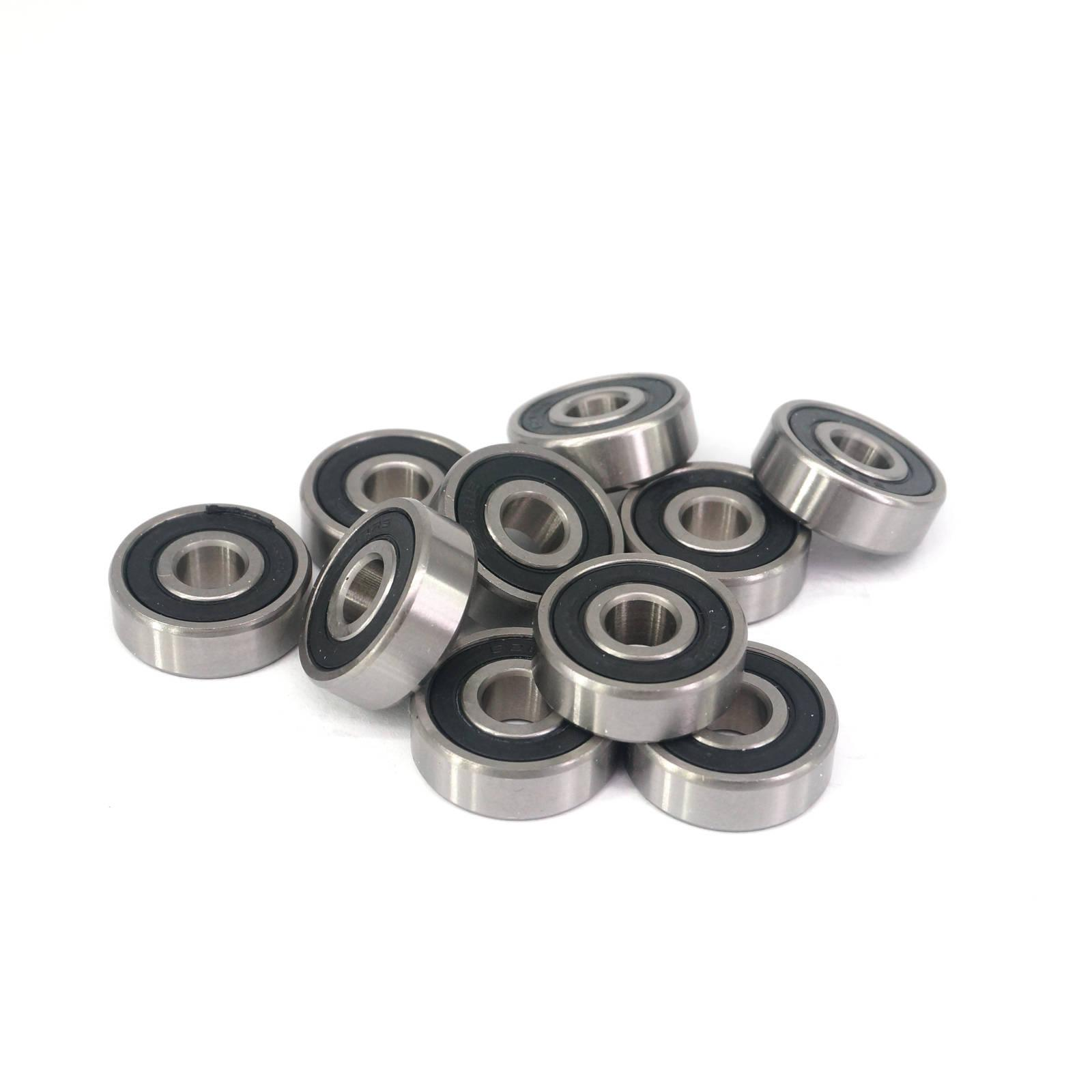 10pcs 628-2RS 8x24x8mm ABEC1 Thin-wall Shielded Deep Groove Ball Bearing image