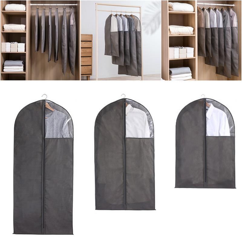 Bolsa de Ropa Protector para vestidos trajes 60*110cm abrigos Fundas Ropa Fundas para Trajes
