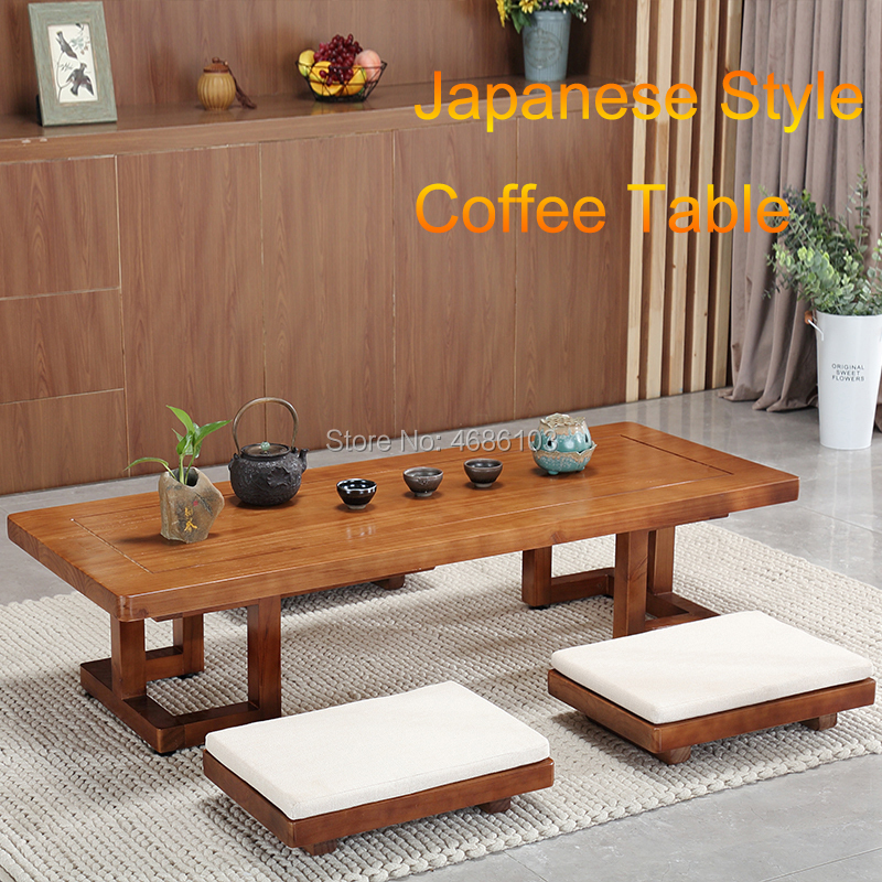 2019 Japanese Tatami Tea Table Solid Wooden Table Balcony Floating Window Table Kang Table Zen Low Table Basse De Salon