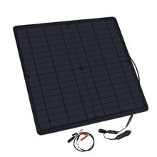 20W 12V Waterproof Solar Panel DC Monocrystalline Car Charger For Outdoor Camping Emergency carregador Cigarette solar plate