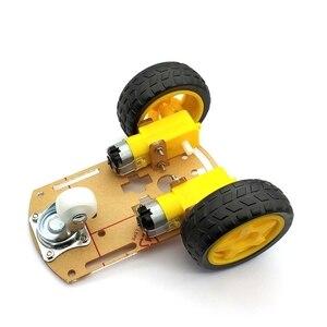 Image 1 - Akıllı Robot araba 2WD Motor şasi/izleme araba kutu kiti hız Encoder pil kutusu ile Arduino Diy kiti için