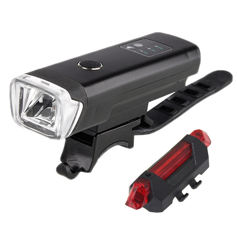 Bike Headlight Bike Tail Lights <font><b>Set</b></font>,Usb Rechargeable <font><b>Bicycle</b></font> Led Front And Back Rear Lights,Powerful Super Bright Bike Lights image