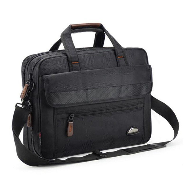 2019 Casual Men 15.6 Inch Briefcase Women Laptop Bag Waterproof Good Oxford Cloth Travel Bag Portable Practical File Work Bags