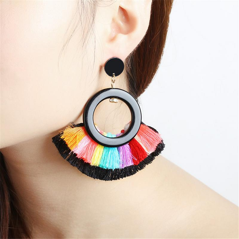 Short Female Tassel Earrings 2019 New Arrival Oorbellen Voor Vrouwen Fashion Jewelry Statement Earrings