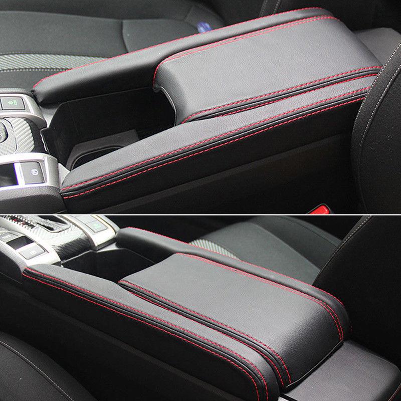 Ezzy Auto Gray Leather Center Console Armrest Lid Cover Center Console Armrest Box Cover fit for 2006-2011 Honda Civic