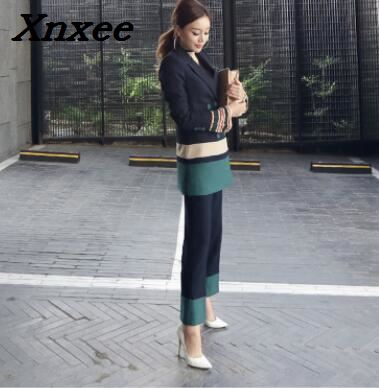 Business suit set women blazer+pants two pieces set office lady elegant formal jacket outfits female work wear women's clothing