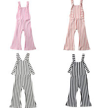 d185ee80ab 2019 Baby Clothes Kids Baby Girls Off shoulder Stripe Sleeveless Romper  Jumpsuits Trousers Outfits Pants(