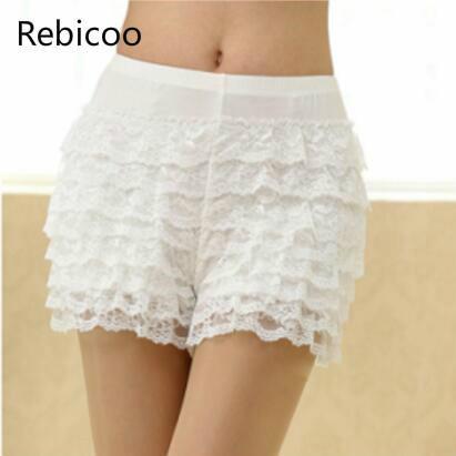 Women Sexy Dance <font><b>Shorts</b></font> Female Under <font><b>shorts</b></font> wear <font><b>Plus</b></font> <font><b>Size</b></font> <font><b>Lace</b></font> Ruffles Dance <font><b>shorts</b></font> image
