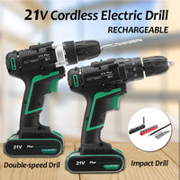 45Nm 21V Plus Electric Screwdriver Cordless Drills Driver Power Tools Included Rechargeable Lithium ion Battery with LED lights