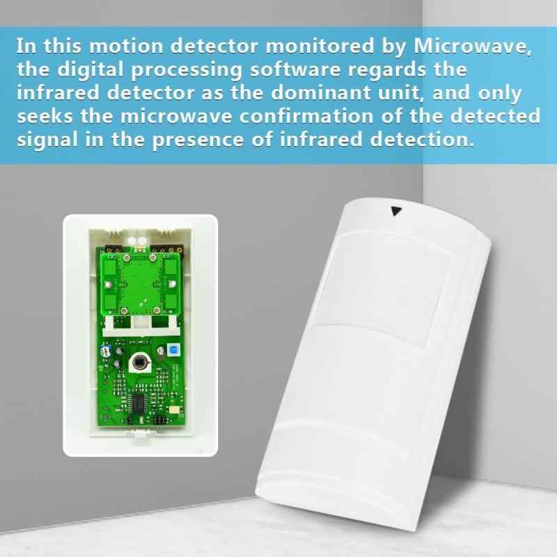Проводной крытый инфракрасный микроволновый Кабель датчик движения интеллектуальный цифровой сигнал тревоги PA-525D