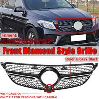 Diamond Grill W292 Car Front Grill Grille For Mercedes For Benz GLE For Coupe Sport W292 C292 GLE350 GLE400 2015 2018 And Camera