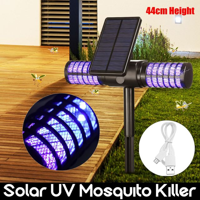 Automatic Solar Powered Waterproof UV LED Mosquito Zapper